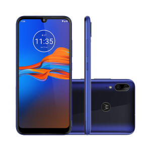 "Smartphone XT2025 Motorola Moto E6 Plus 32GB Azul 4G Tela 6.1"" Câmera Dupla 13MP Selfie 8MP Android 9.0 Pie"