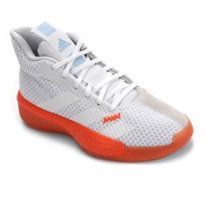 Tênis Adidas Pro Next 2019 Masculino - Branco e Laranja   R$260
