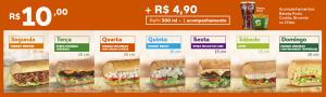 (PR e SC) Barato do dia + Refri 300 ml + Acompanhamento - R$15