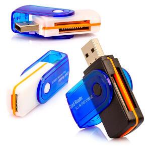Leitor Cartão de Memória Universal USB - R$3