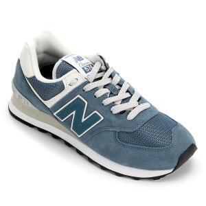 Tênis New Balance 574 Feminino - Cinza e Azul R$240