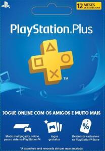Cartão Pré Pago - Playstation Plus 12 Meses - Online