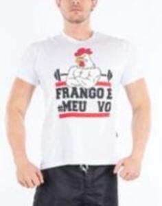 """Camisa """"Frango é meu OVO"""" de R$59.90 por R$31"""