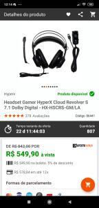Hyperx Cloud Revolver S 7.1 Dolby Digital