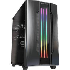 Gabinete Gamer Cougar Gemini M Iron Grey, Mini Tower, Com 1 Fans, Vidro Temperado, Black, S-Fonte