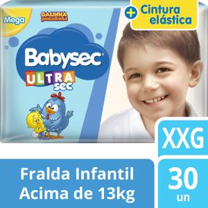 Fralda Babysec UltraSec Galinha Pintadinha XXG - 30 Unidades