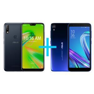Zenfone Max Plus (M2) 3GB/32GB Preto + ZenFone Live (L1) Octacore Azul 430 | R$799