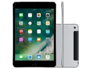 "iPad Mini 4 Apple 128GB Cinza Tela 7,9"" Retina 4G - magazine"