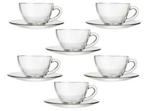 Jogo de Xícaras para Chá 12 Peças - Duralex Diamante - R$39