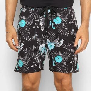 Bermuda Gajang Floral Masculina - Preto R$45