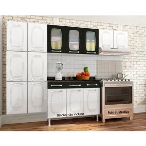 Conjunto Cozinha 3 Peças Telasul Novita Branco com Preto R$ 402