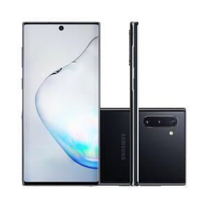 "[Cashback R$959] Smartphone Samsung Galaxy Note 10 256GB Preto 4G Tela 6.3"" Câmera Tripla 16MP Selfie 10MP Android 9.0 - R$3199"