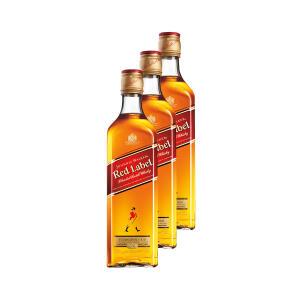 3 Whisky Johnnie Walker Red Label 500ml - 3 Unidades