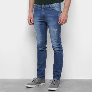Calça Jeans Black River Skinny Estonada Masculina - Azul R$40