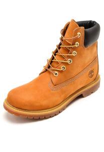 Bota Couro Timberland Yellow Boot W 6in Premium Boot WP - Caramelo R$273
