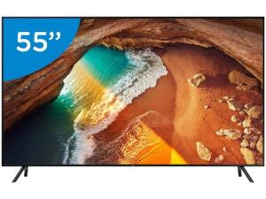 "Smart TV 4K QLED 55"" Samsung QN55Q60RAG Wi-Fi - HDR 4 HDMI 2 USB R$2999"
