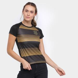 Camisa Corinthians Silverstone Edição Limitada Feminina - Preto e Dourado R$50