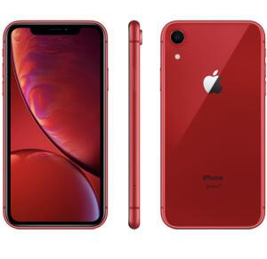 "iPhone XR 64GB Vermelho Tela 6.1"" iOS 12 4G 12MP - Apple R$3088,00 1X no boleto"