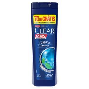 Shampoo Clear Anticaspa Ice Cool Menthol Leve - 400ml