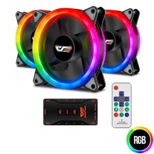 Kit Ventoinhas Aigo DR12 3in1 RGB 3x120mm