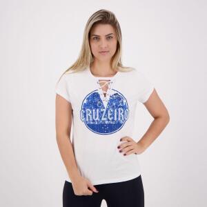 Camisa Cruzeiro Metal Feminina Branca - R$17