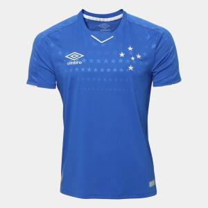 Camisa do Cruzeiro I 19/20 s/n° Torcedor Umbro Masculina - Azul e Branco