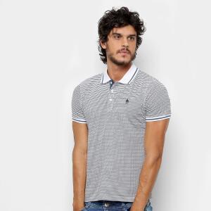 Camisa Polo NYC - Norwich Yatch Club Listrada Masculina - Cinza R$28