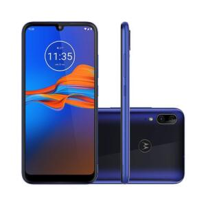 "Smartphone Motorola Moto E6 Plus 64GB Azul Netuno 4G Tela 6,1"" Câmera Dupla 13MP Selfie 8MP"
