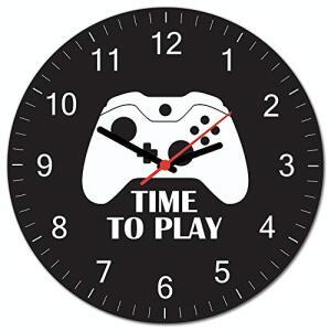 (Prime) Relógio De Parede Beek Gamer X Beek Geek's Stuff Preto