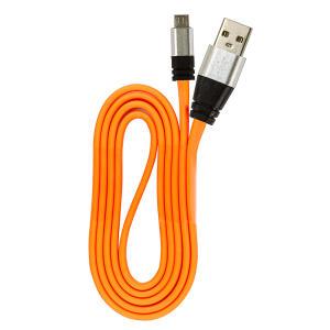 Cabo Micro USB Flat Celular de Silicone Carregador e Dados - R$3