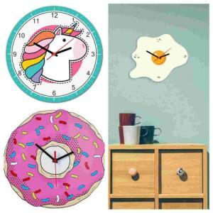 Relógio De Parede Beek Donut, Ovo e Unicórnio Beek Geek's Stuff a partir R$ 26