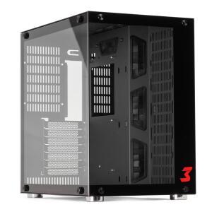 Gabinete Gamer DT3sports Hyperspace Mid Tower Vidro Temperado Black S-fonte