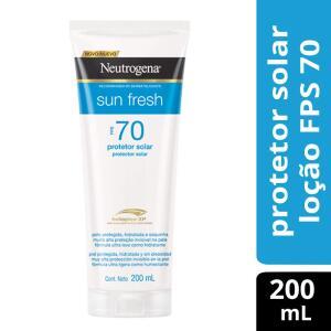 Protetor Solar Neutrogena Sun Fresh FPS 70, 200ml R$ 47
