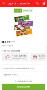 [Lojas Físicas Americanas] Picolé Fruttare por R$ 0,99