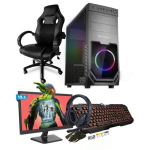 Kit Pc Gamer Smart Intel I5 8gb Ssd 480gb + Monitor 19,5 + Cadeira Gamer | R$3054