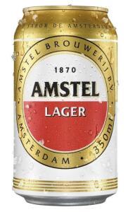 R$ 1,99 - Cerveja AMSTEL Lager Lata 350ml