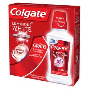 Kit Creme dental Colgate Luminous White - 2 Unidades | R$20