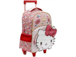 Mochila Infantil Escolar Feminina Hello Kitty - de Rodinha Tam. G R$ 70