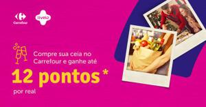 Ganhe 12 pontos Livelo por real gasto no Carrefour