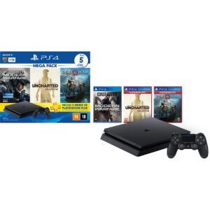 Console Ps4 1TB + 5 Jogos + Controle DualShock 4 Bundle Hits 7 - Sony | R$1599