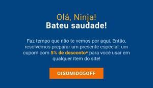 5% de Desconto em qualquer produto da loja Kabum