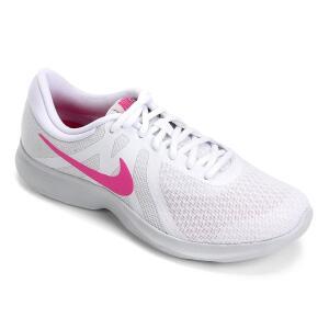 Tênis Nike Revolution 4 Feminino - Branco e Rosa R$130