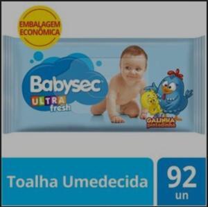 TOALHA UMEDECIDA BABYSEC ULTRAFRESH - 92 UNIDADES