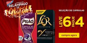 Cápsulas Café L'or e Pilão - Leve 6 pague 4 (a partir de R$ 10,49)