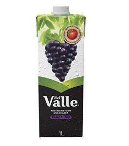 [ R$: 3,07 UNID. ] 05 Néctar Del Valle Uva 1L | FRETE GRÁTIS - PRIME
