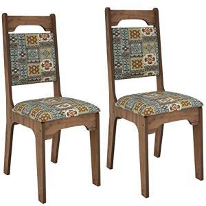 Conjunto com 2 Cadeiras Isis Nobre e Ladrilho R$ 199