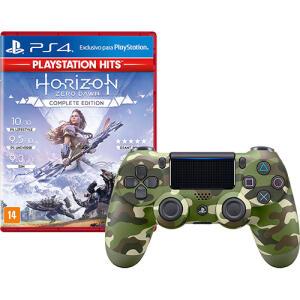 [Boleto] Controle Dualshock 4 Green Camouflage + Game Horizon Zero Dawn Complete Edition Hits - PS4