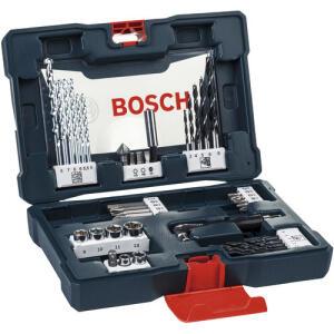 Jogo de Brocas Soquetes e Bits Kit V-Line 41 peças Bosch R$ 54