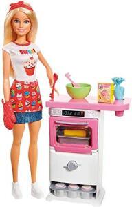 Boneca Barbie Cozinhando e Criando Chef de Bolinhos | R$77