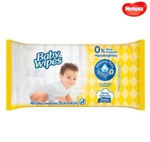 Toalhas Umedecidas Huggies Baby Wipes - 48 Unidades R$5